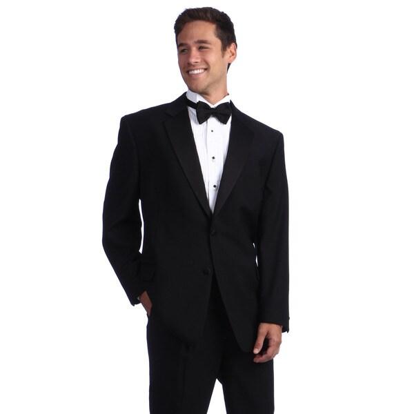 Daniel Gray Men's 2-button Black Wool Tuxedo Jacket