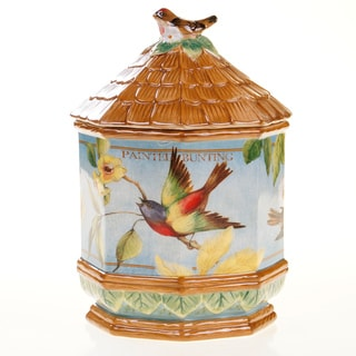 Certified International Botanical Birds 3-D Cookie Jar