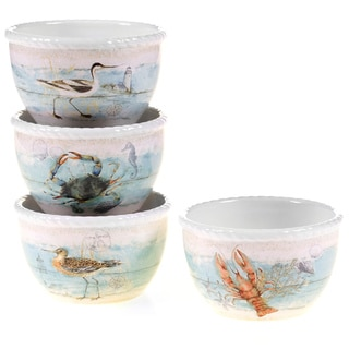 Certified International Beach Cottage Ice Cream Bowls (Set of 4)