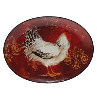 Certified International Avignon Rooster Oval Platter