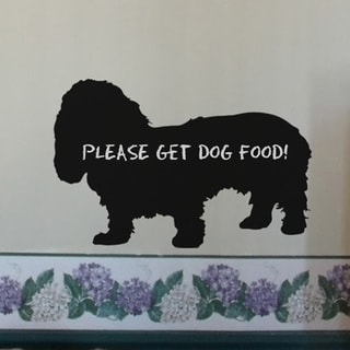 Instant Chalkboard Basset Hound Removable Message Board