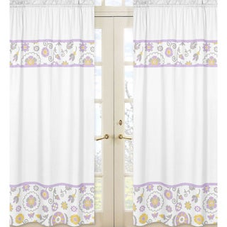 Suzanna Floral 84-inch Curtain Panel Pair