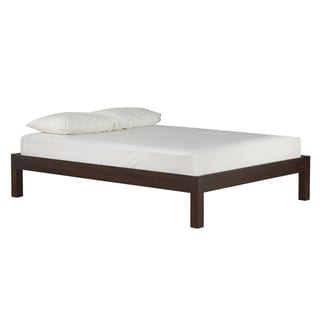 Solid Mahogany Brown Platform Bed