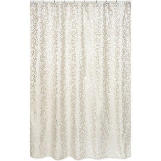 Sweet Jojo Designs Champagne and Ivory Victoria Jaquard Shower Curtain