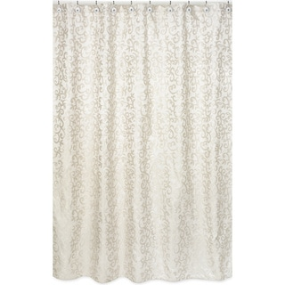 Champagne and Ivory Victoria Jaquard Shower Curtain