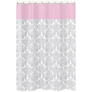 Elizabeth Damask Cotton Shower Curtain
