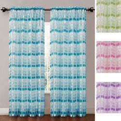 Maze Rod Pocket 84-Inch Curtain Panel