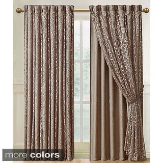 Victoria Classics Irena Curtain Panel with Attached Backing
