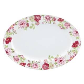 Kathy Ireland Home Blossoming Rose Oval Platter by Gorham