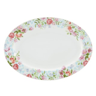 Kathy Ireland Home Spring Bouquet 14-inch Oval Platter by Gorham