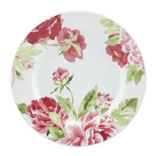 Kathy Ireland Home Blossoming Rose Canape Plates by Gorham (Set of 4)