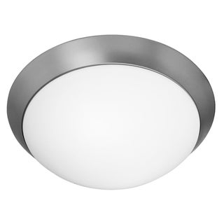 Access Cobalt 1-light Brushed Steel Flush-Mount