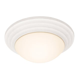 Access Strata 1-light Textured White Flush-Mount