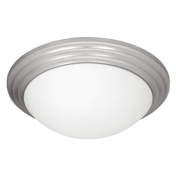 Access Strata 2-light Brushed Steel 14-inch Flush Mount