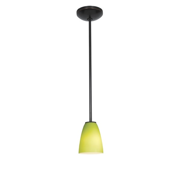 Access Julia 1-light Oil-Rubbed Bronze Cone Glass Pendant
