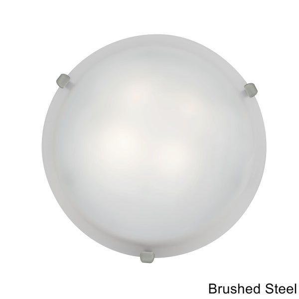 Access Mona 2-light White Glass 12-inch Flush Mount