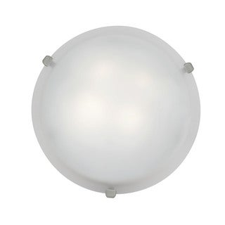 Access Mona 2-light Brushed Steel Energy Efficient 12-inch Flush Mount