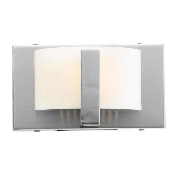 Access Oracle 1-light Brushed Steel ADA Compliant Wall and Vanity