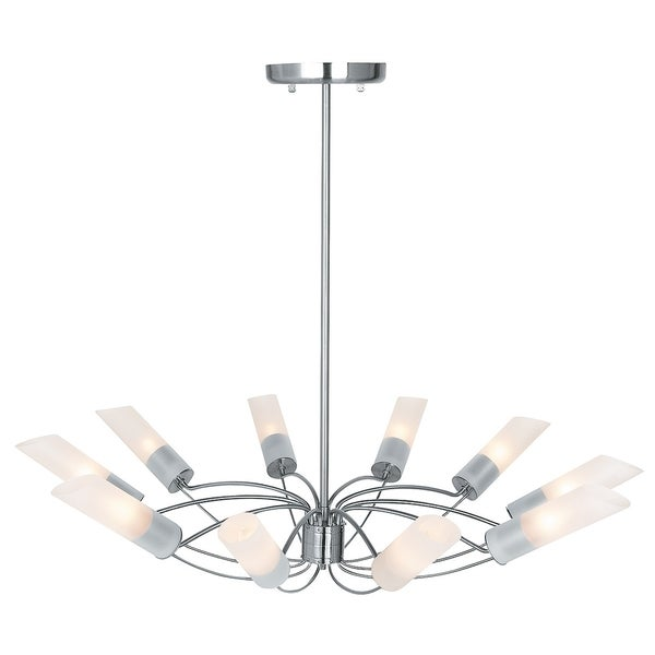 Access Solar 10-light Brushed Steel Chandelier
