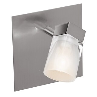 Access Ryan 1-light Brushed Steel Wall Fixture