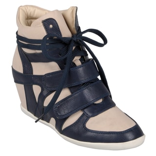 Hailey Jeans Co.Women's 'Alana-27' Lace-up High Top Wedges