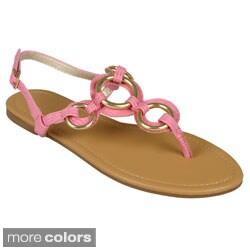 Journee Collection Women's 'Aurora' T-strap Sandals