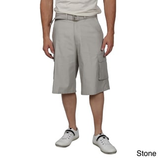 Daxx Men's Belted Twill Cargo Shorts