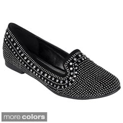 Journee Collection Women's 'Clara-3' Round Toe Stud Accent Ballet Flats