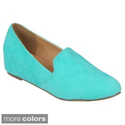 Journee Collection Women's 'Jasper-3' Sueded Round Toe Flats