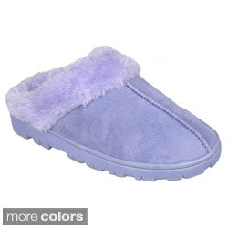 Journee Kid's 'K-yola' Sueded Lug Sole Slipper