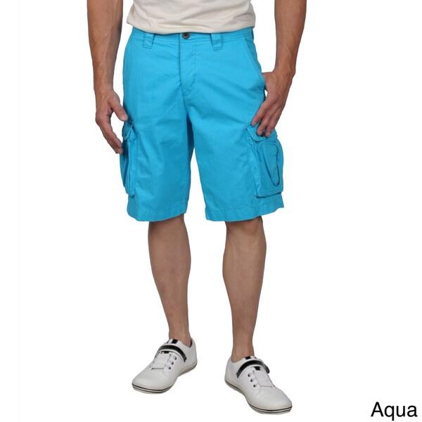 Boston Traveler Men's Twill Flat-front Cargo Shorts