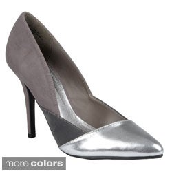 Journee Collection Women's Tonal Pointed Toe Pump