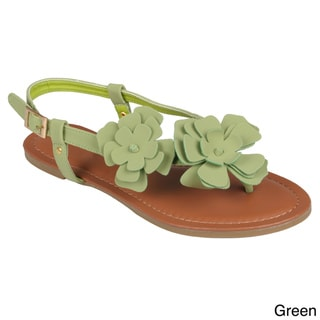 Journee Collection Women's Floral Accent Slingback Sandal