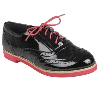 Journee Collection Women's Round Toe Lace-up Oxford