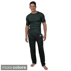 Boston Traveler Men's 2-piece Short-sleeve Long Pant Pajama Set