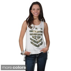 Journee Collection Juniors Sleeveless High-low Top