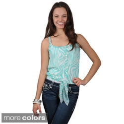 Journee Collection Juniors Lightweight Tie-front Top