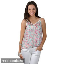 Journee Collection Juniors Lightweight Sleeveless Top with Solid Print