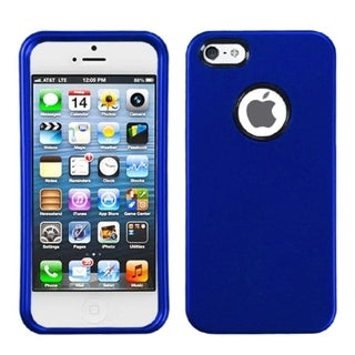 BasAcc Titanium Solid Dark Blue Phone Case for Apple iPhone 5