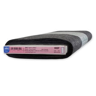 Pellon 855F Tailor's Elite Lu x ury Fusible Interfacing Black (20-inch x 10yd)