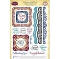 "JustRite Stampers 6""X8"" Clear Stamp Set-Celebrations Labels One 16pc"