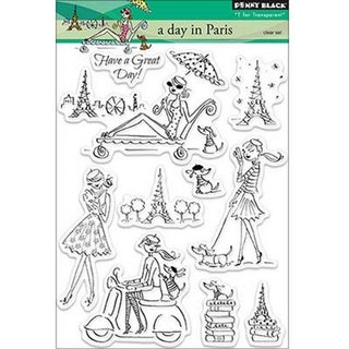 Penny Black Clear Stamps 5X6.5in Sheet-Day In Paris
