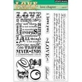 Penny Black Clear Stamps 5X6.5in Sheet-Love Chapter