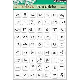 Penny Black Clear Stamps 5X6.5in-Sheet-Kate Alphabet