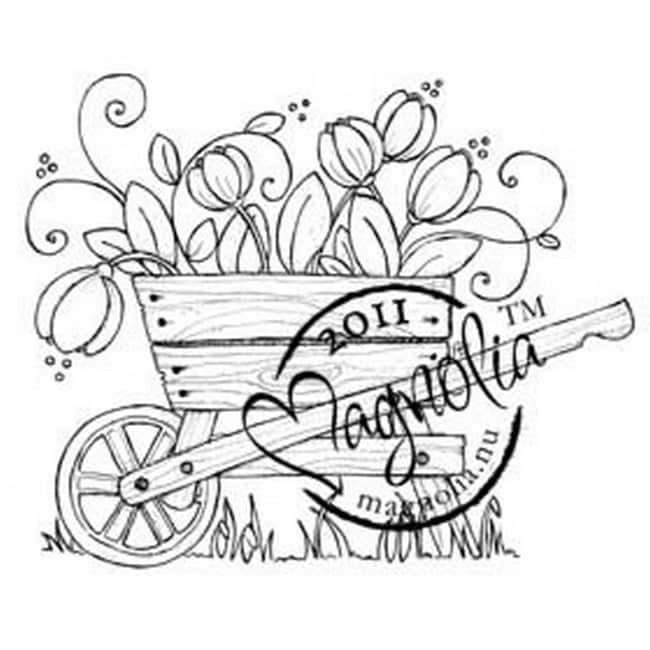 Butterfly Dreams Cling Stamp-Tulip Wheelbarrow
