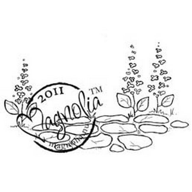 Butterfly Dreams Cling Stamp-Stone Path