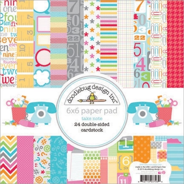Take Note Paper Pad 6X6in