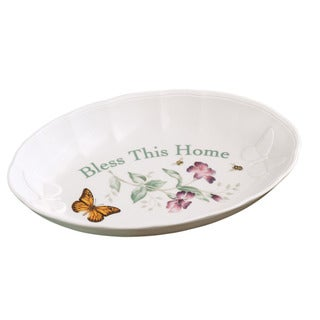 Lenox Butterfly Meadow Bless This Home Bread Tray