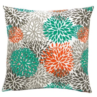 Blooms Outdoor Throw Patio Pillow