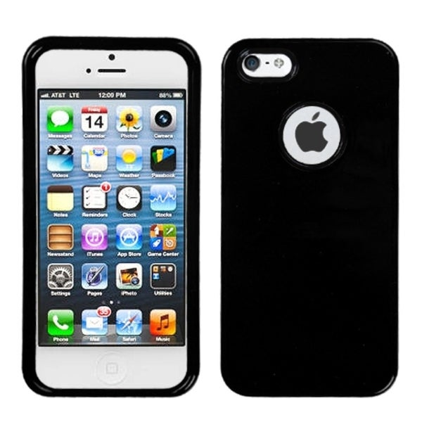 INSTEN Black Solid Phone Protector Phone Case Cover for Apple iPhone 5